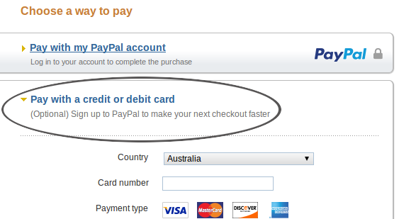 how to pay with credit card at paypal